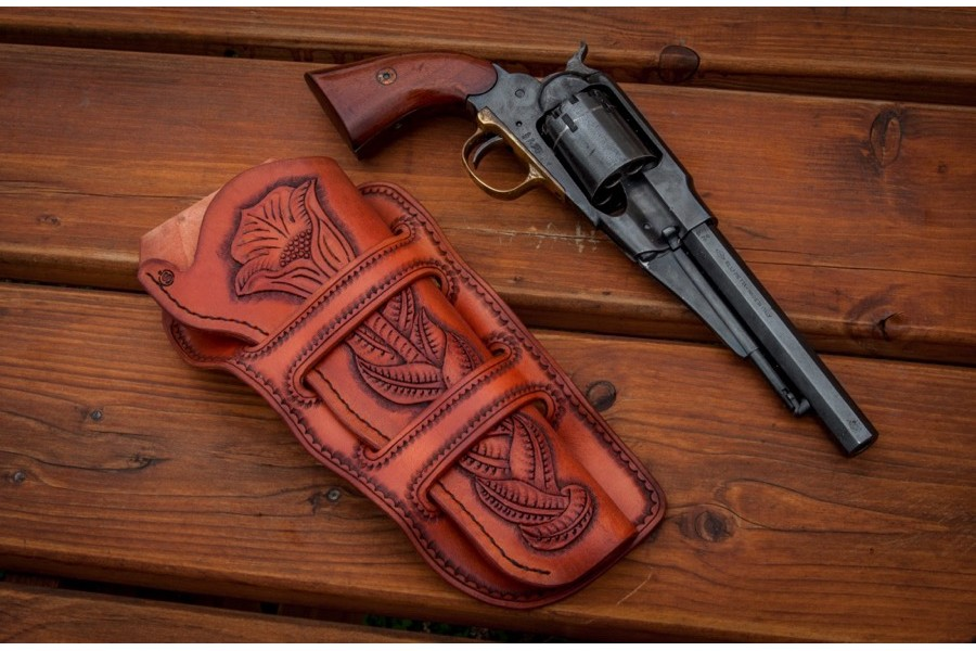 "Holster ""Mexican loop"" - Gentiana"